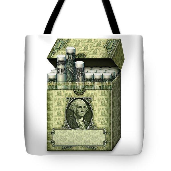 Dollar Cigarettes Tote Bag