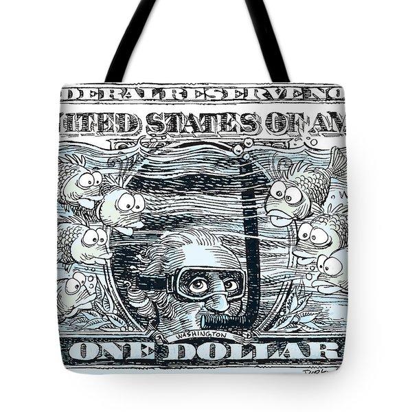 Dollar Submerged Tote Bag