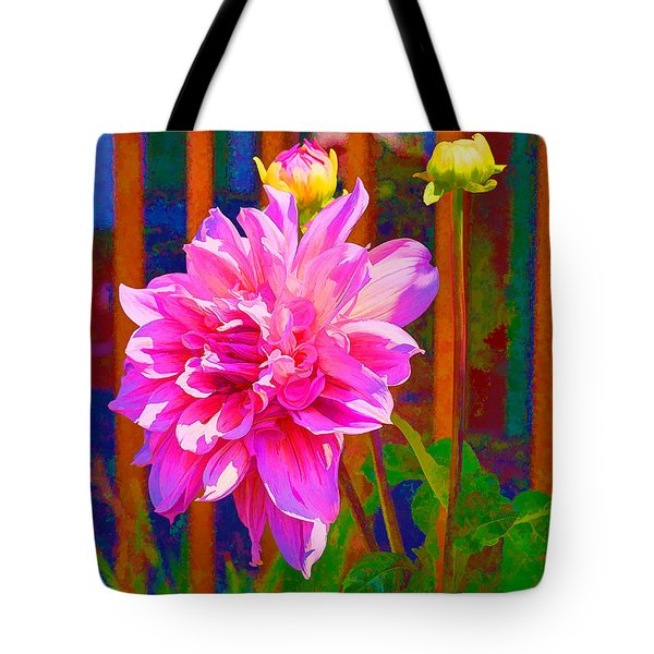 Dolled Up Dahlia Tote Bag