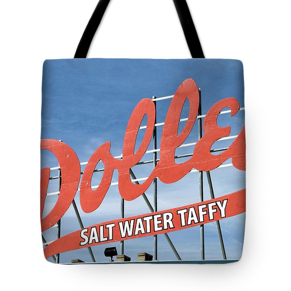 Tote Bag featuring the photograph Dolles Salt Water Taffy - Rehoboth Beach  Delaware by Brendan Reals