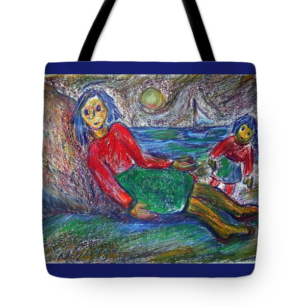 Dolls On The Beach Tote Bag