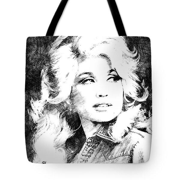 Dolly Parton Bw Portrait Tote Bag