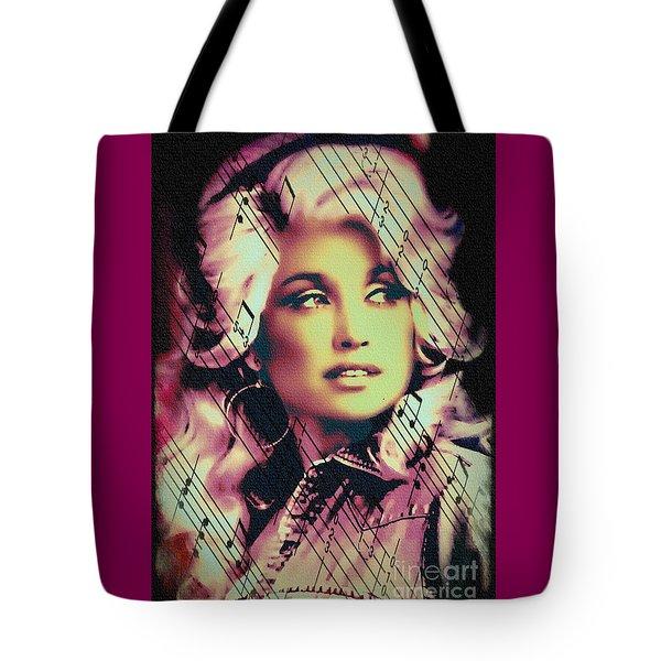 Dolly Parton - Digital Art Painting Tote Bag