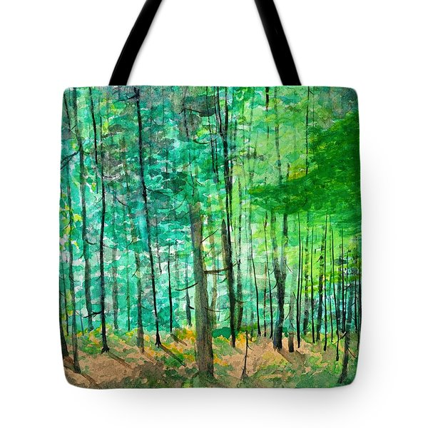 Dolly Sods Trees Tote Bag by David Bartsch