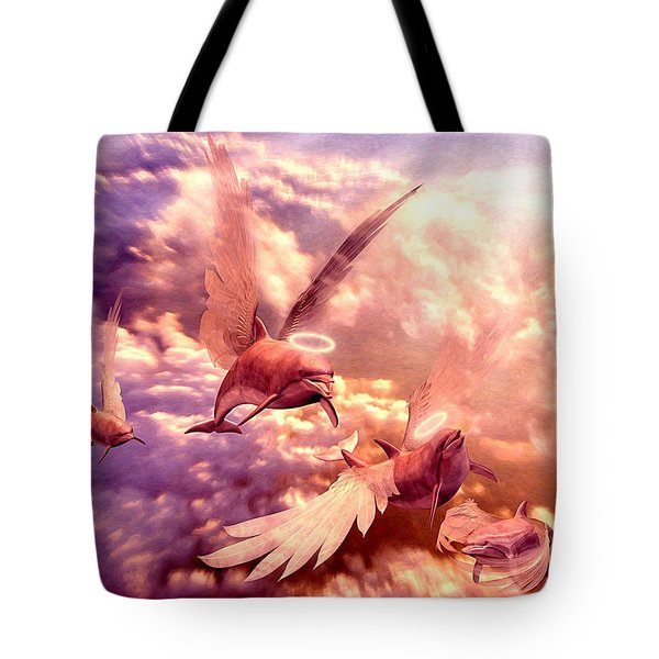 Dolphin Angels Tote Bag by Robby Donaghey