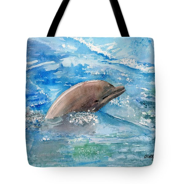 Dolphin  Tote Bag by Arline Wagner