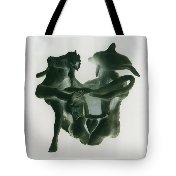 Dolphin Bonds Tote Bag by Frederick Dost