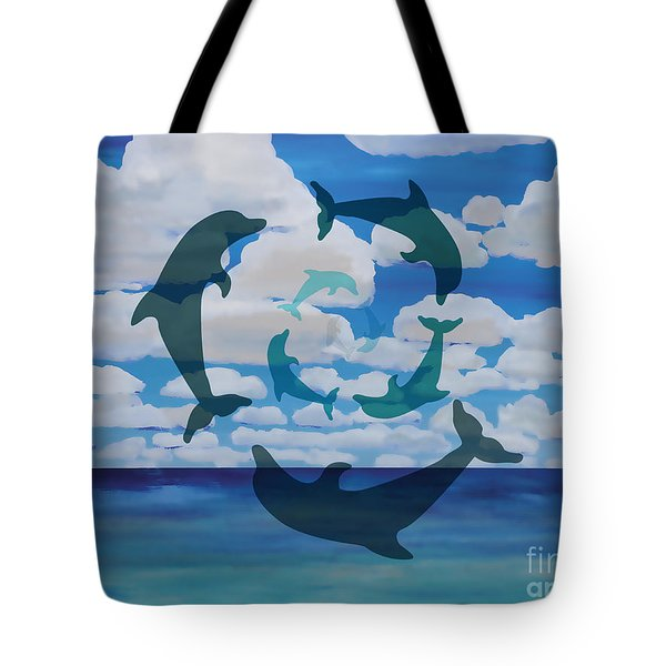 Dolphin Cloud Dance Tote Bag