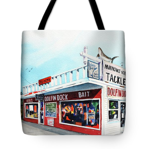 Dolphin Dock I Tote Bag