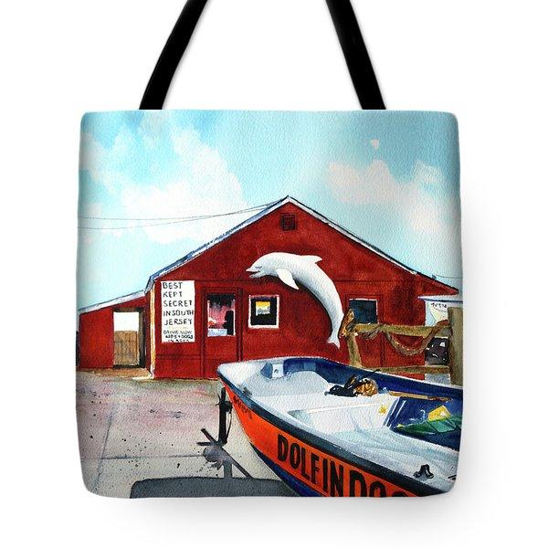 Dolphin Dock II Tote Bag