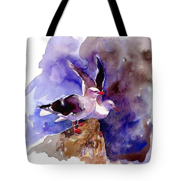 Dolphin Gulls Tote Bag