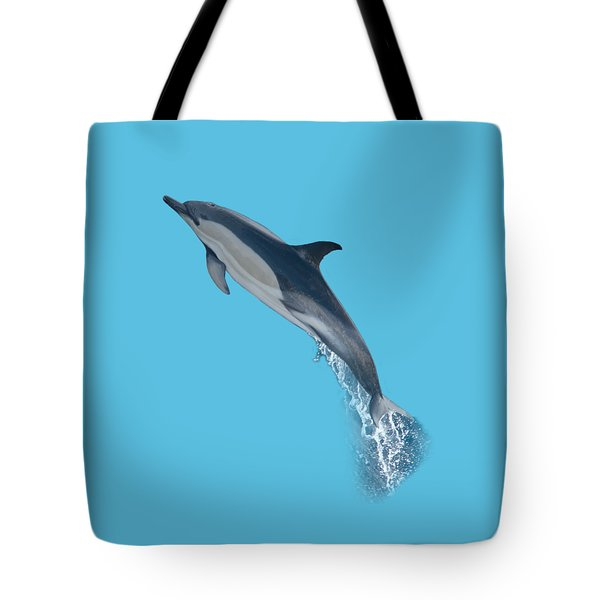 Dolphin Leaping T-shirt Tote Bag