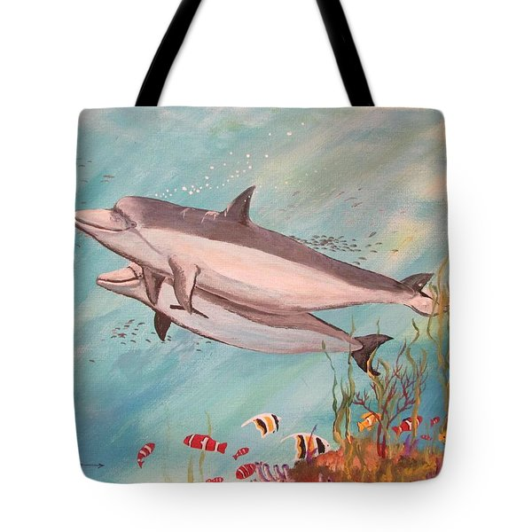Dolphin Tales Tote Bag
