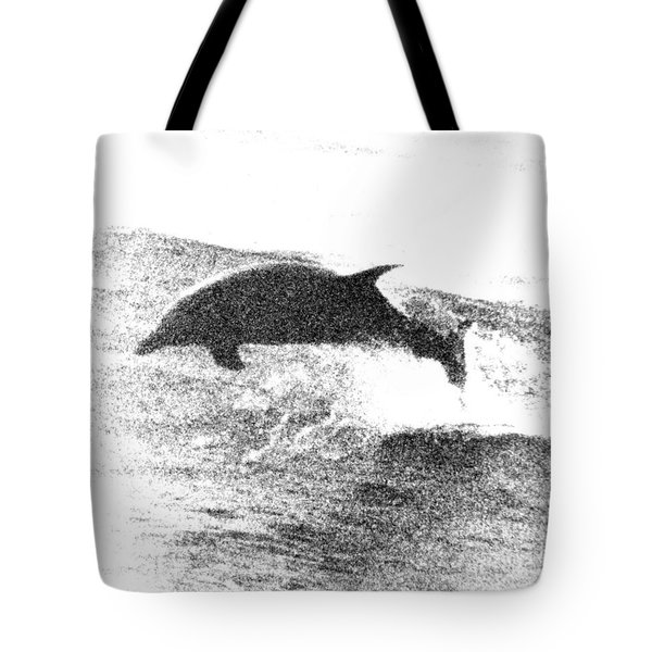 Dolphin Wave Leap Tote Bag