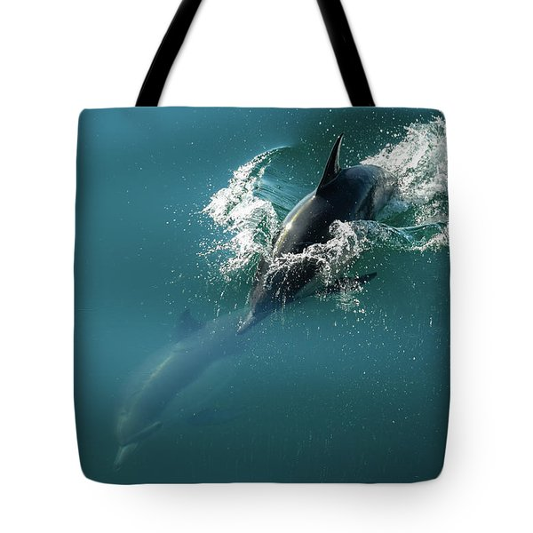 Dolphing Story Tote Bag