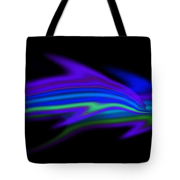Dolphins Tote Bag by Charles Stuart