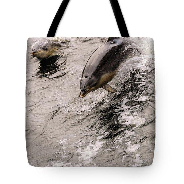 Dolphins Tote Bag by Werner Padarin
