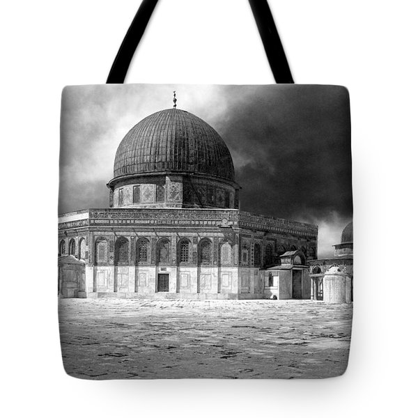 Dome Of The Rock - Jerusalem Tote Bag by Munir Alawi