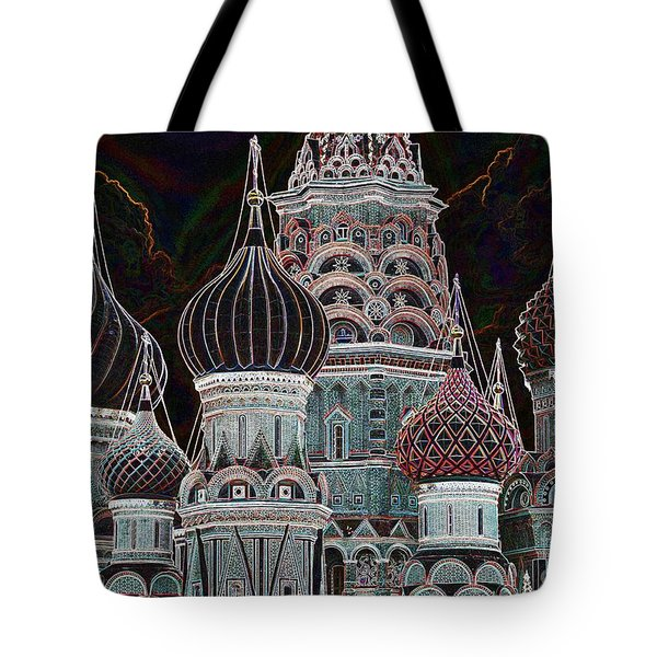 Domes Of St. Basil Cw Tote Bag by Steven Liveoak