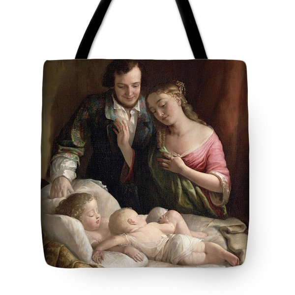 Domestic Happiness Tote Bag by Lilly Martin Spencer