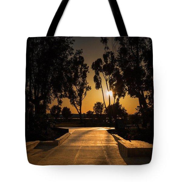 Dominguez Hills Sunset Tote Bag