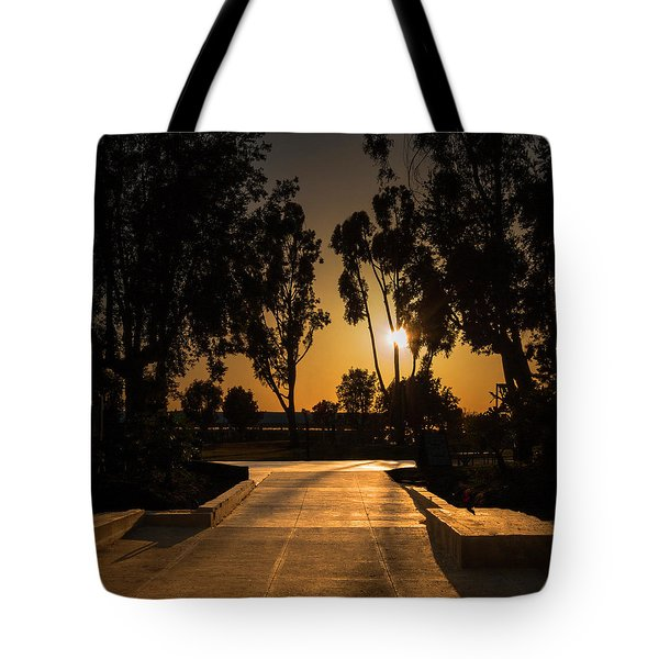 Dominguez Hills Sunset Tote Bag