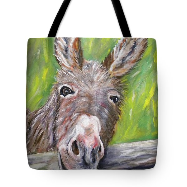 Dominic The Donkey Tote Bag
