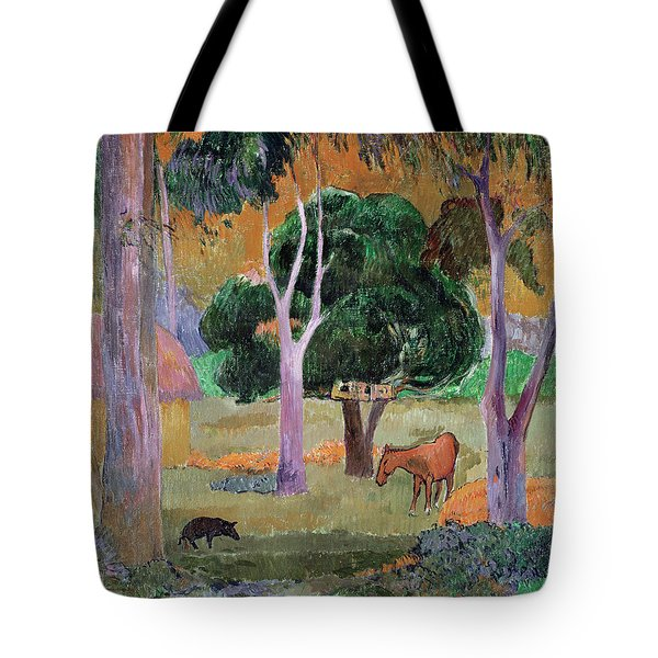 Dominican Landscape Tote Bag by Paul Gauguin
