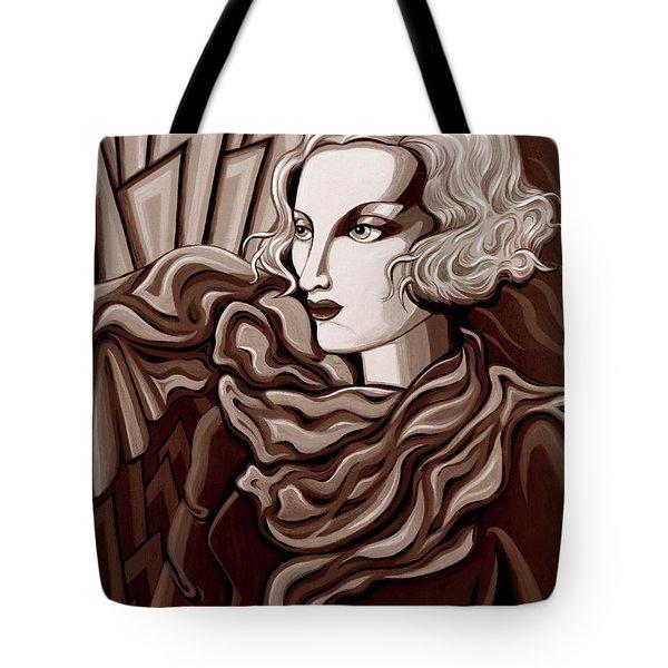 Dominique In Sepia Tone Tote Bag by Tara Hutton