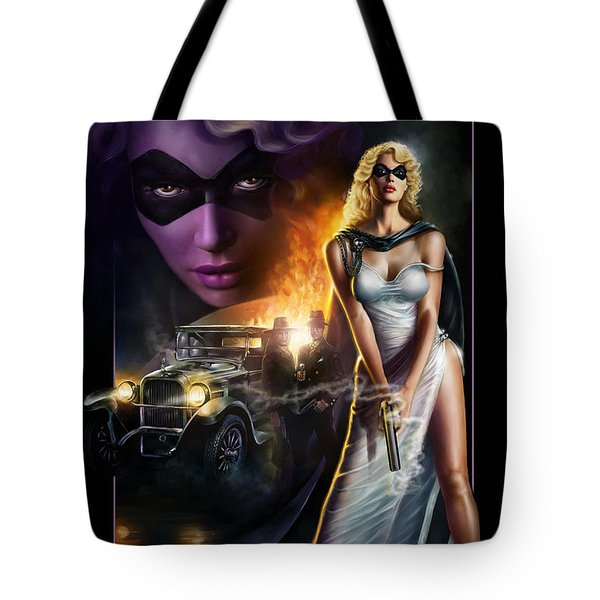 Domino Lady Tote Bag