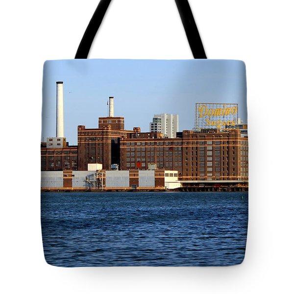 Domino Sugar Tote Bag by Joseph Skompski