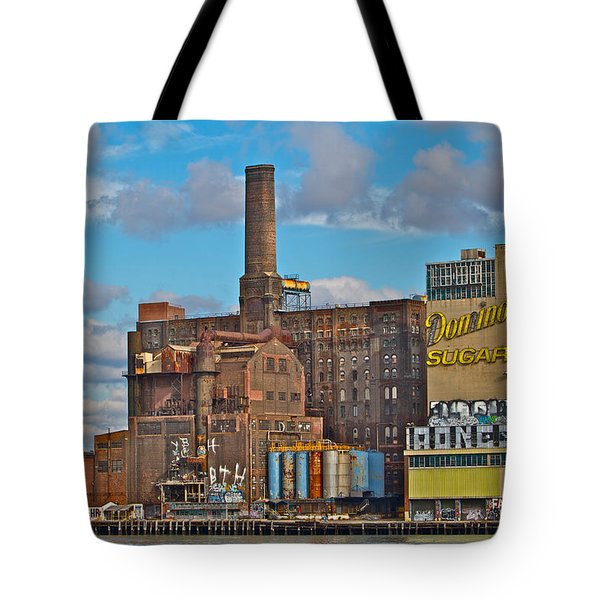 Domino Sugar Water View Tote Bag by Alice Gipson