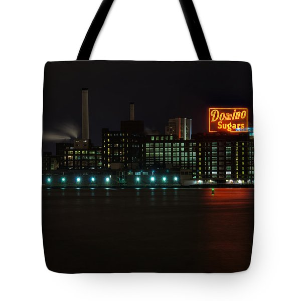 Domino Sugars Wide Tote Bag