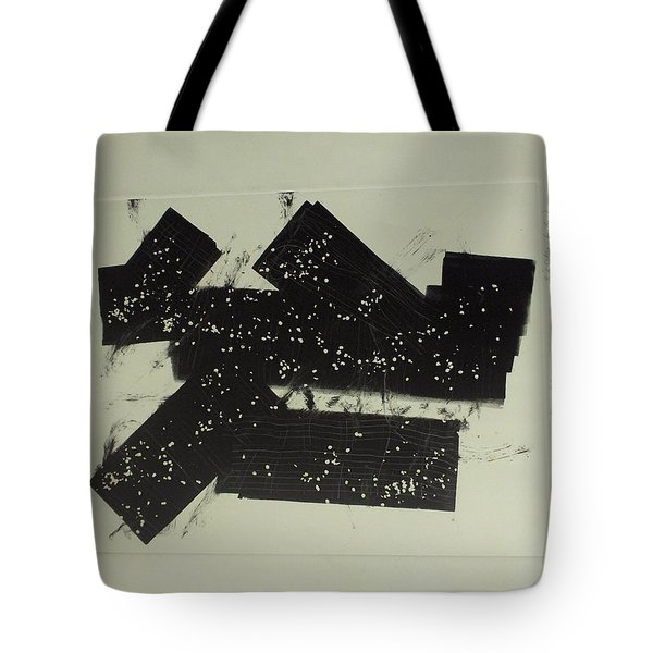 Tote Bag featuring the mixed media Dominos by Erika Chamberlin