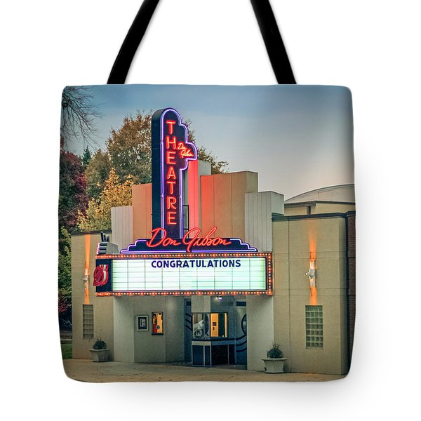 Don Gibson Theatre Tote Bag by Marion Johnson