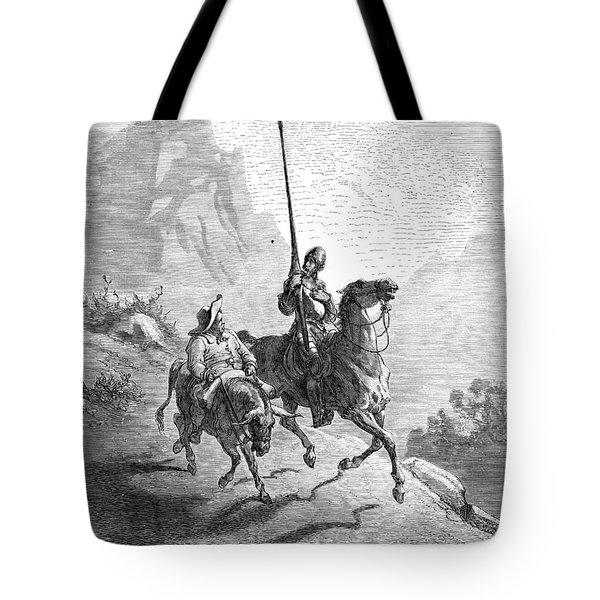Don Quixote And Sancho Tote Bag by Granger