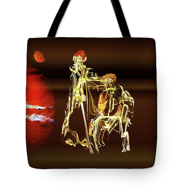 Tote Bag featuring the painting Don Quixote And Sancho Panza by Valerie Anne Kelly