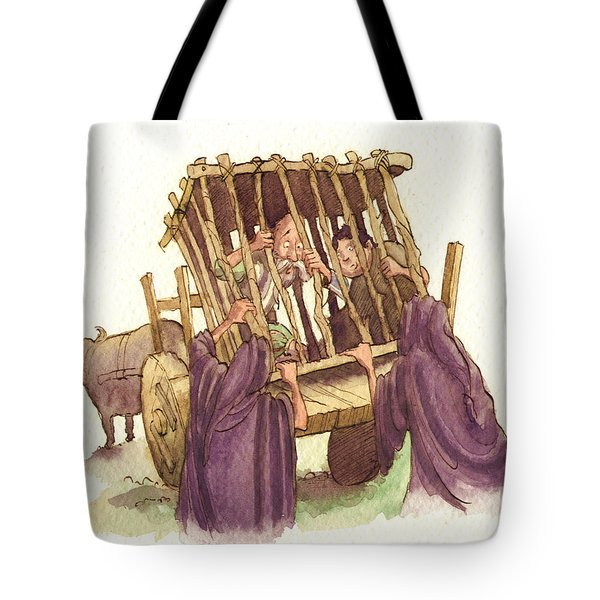 Don Quixote Caged Tote Bag by Andy Catling