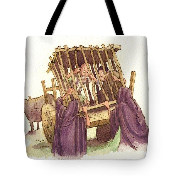 Don Quixote Caged Tote Bag