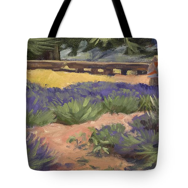 Don Read Painting Lavender Tote Bag by Jane Thorpe