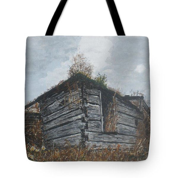 Tote Bag featuring the painting Done Its Time... by Betty-Anne McDonald
