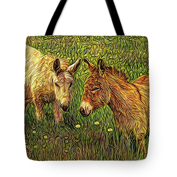 Donkey Confidential Tote Bag by Joel Bruce Wallach