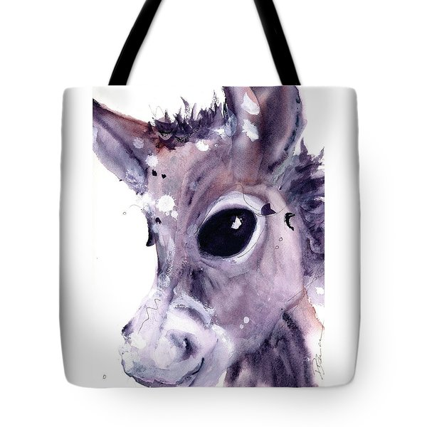 Tote Bag featuring the painting Donkey by Dawn Derman