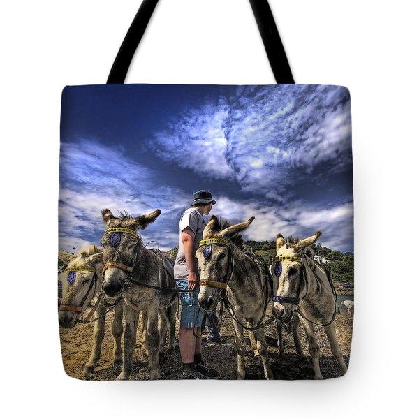 Donkey Rides Tote Bag by Meirion Matthias