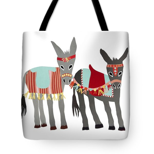 Donkeys Tote Bag by Isoebl Barber