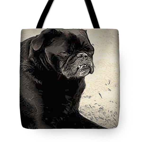 Donnas Bulldog Tote Bag