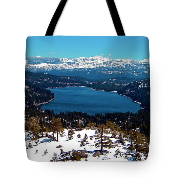 Donner Lake Sierra Nevadas Tote Bag