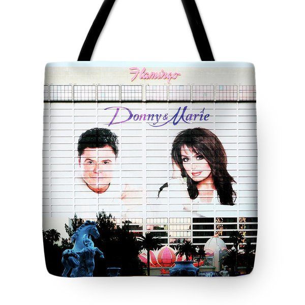 Donny And Marie Osmond Large Ad On Hotel Tote Bag
