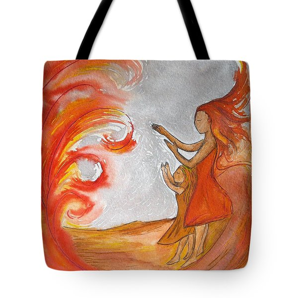 Don't Be Afraid Tote Bag by Gioia Albano