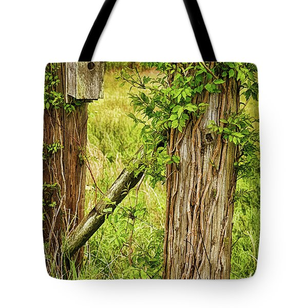 Don't Fence Me In Tote Bag by Priscilla Burgers